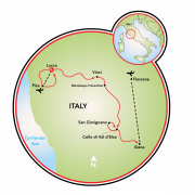 Best of Tuscany Bike Tour Map