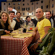 Dining out in Tuscany, Italy.