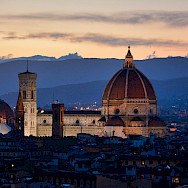 Evening in Florence, Italy. Tuscany Italy Bike Tour.