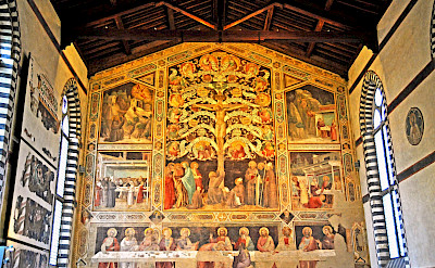 Frescos at Santa Croce Convent in Florence, Tuscany, Italy. Flickr:Dennis Jarvis