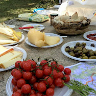 Delicious Italian treats await. Tuscany Italy Bike Tour.