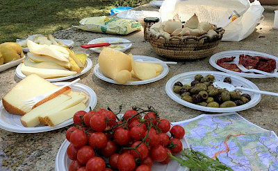 Delicious Italian treats await. Tuscany Italy Bike Tour.