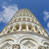 Leaning tower of Pisa in Italy.