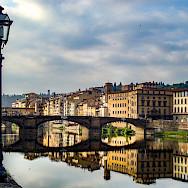 Gorgeous Ponte Vecchio in Tuscany, Italy.