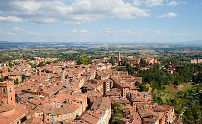 Overlooking in Siena, a UNESCO a World Heritage Site, in Tuscany, Italy. Flickr:dev2r