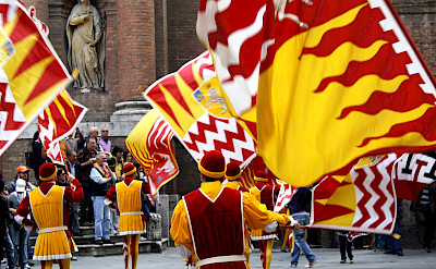 Parade in Piazza del Campo in Siena, Tuscany, Italy. Flickr:DimitryB