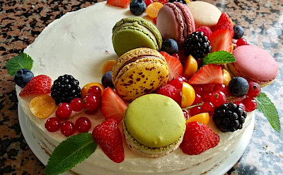 One of the delicious desserts prepared by the chef | Bike & Boat Tours
