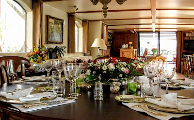 The exquisite table settings | Bike & Boat Tours