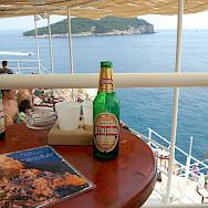 Enjoying the Adriatic Sea from Cafe Bar Buza in Dubrovnik, Croatia. Flickr:Yusuke Kawasaki