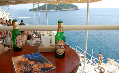 Enjoying the Adriatic Sea from Cafe Bar Buza in Dubrovnik, Croatia. Flickr:Yusuke Kawasaki