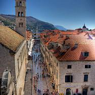 Famous shopping street in Dubrovnik, Croatia. Flickr:Michael Caven