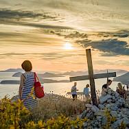 Setting sun on the Dalmatian Coast in Dubrovnik, Croatia. Flickr:Luca Sartoni