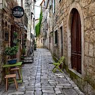 Old Town street in Stari Grad on Hvar Island, Croatia. Flickr:Jocelyn Erskine-Kellie