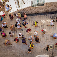 Tourists exploring in Dubrovnik, Croatia. Flickr:Luca Sartoni