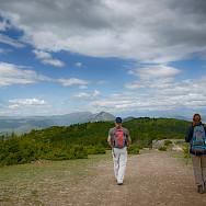 Hiking to Vodno, Macedonia.