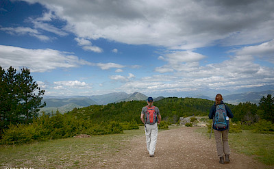 Hiking to Vodno, Macedonia.