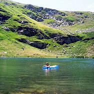 Swimming at Pelister National Park in Macedonia.