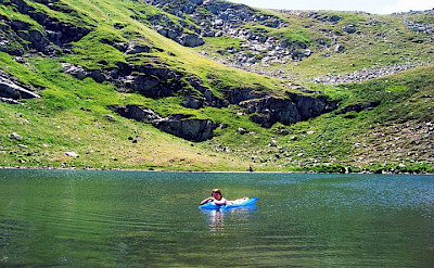 Swimming at Pelister National Park in Macedonia.