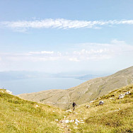 Hiking to Magaro Peak in Macedonia.
