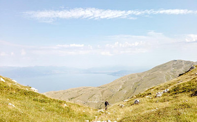 Hiking to Magaro Peak in Macedonia.