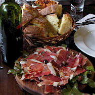 Fresh cuts and breads, local wines - the tastes of Macedonia.