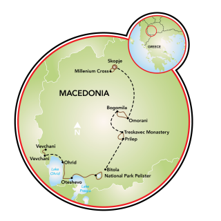 Northern Macedonia Map