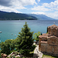 The famous Church of St John in Ohrid beside Lake Ohrid, Macedonia. Flickr:By Inge