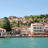 Ohrid, the lakeside resort on Lake Ohrid in Macedonia. Flickr:Xiquinho Silva