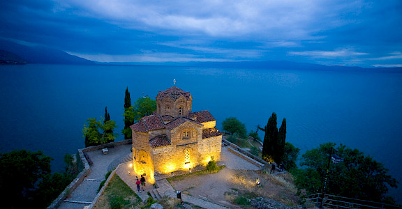 Church of St John overlooking Lake Ohrid in Ohrid, Macedonia. Flickr:Mike Norton