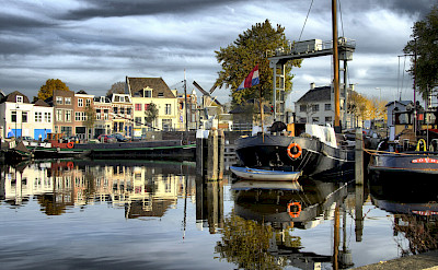 Harbor in Gouda, South Holland, the Netherlands. CC:Arwin Meijer