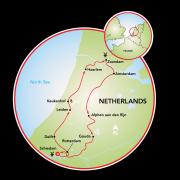 Destaques da Holanda em Cruzeiro de Luxo Mapa