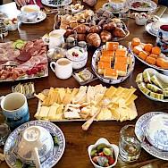 Breakfast spread on the Luxury Tulip Tour in Holland.
