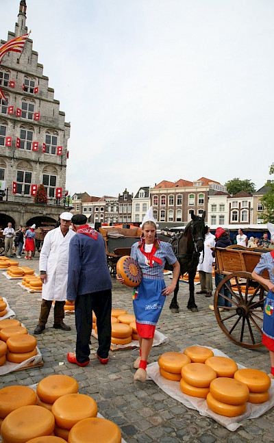 The famous cheese market in Gouda, South Holland, the Netherlands. Flickr:bertknottenbeld