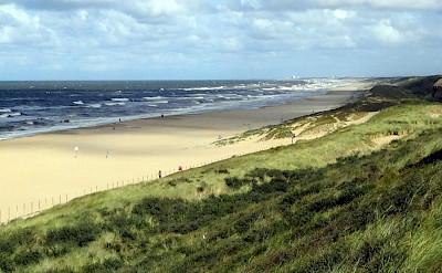 Beach at Katwijk in South Holland, the Netherlands. Flickr:David van der Mark