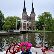 Tower and bridge en route Luxury Tulip Tour in Holland.
