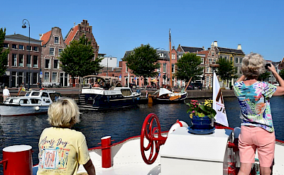 Past towns and harbors on the Luxury Tulip Tour in Holland.
