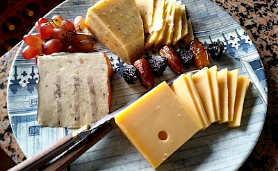 Cheese tray on board ship. ©TO
