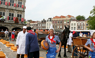Famous Cheese Market in Gouda, South Holland, the Netherlands. Flickr:bert knottenbeld