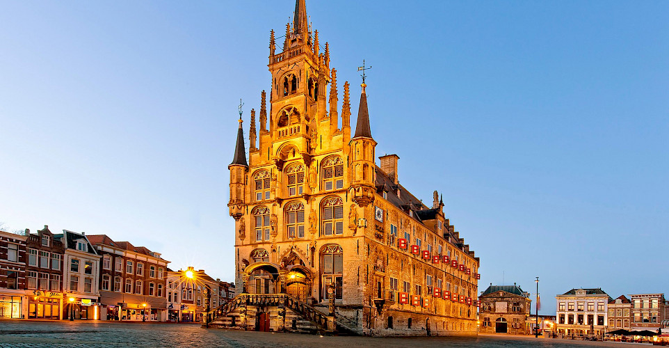 City Hall in Gouda, South Holland, the Netherlands. ©Hollandfotograaf
