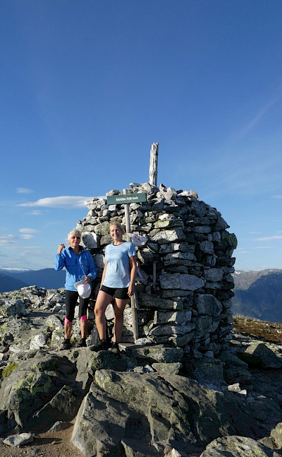 At the top of Molden in Norway.