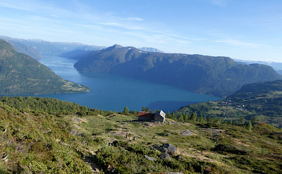 Hiking comes with great views in Urnes, Norway.