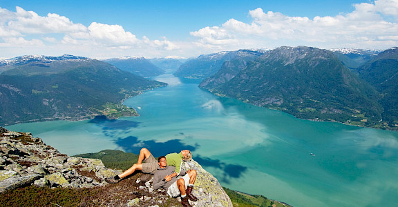 Summit hike of Molden in Norway. ©Terje Rakke/Nordic Life/Fjord Norway