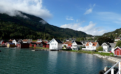 View from the ferry in Solvorn, Norway.