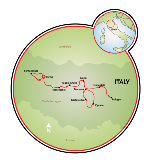 Flavors of Italy: The very best of Emilia-Romagna Map