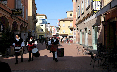 Parade through one of the many small village in Emilia-Romagna, Italy.