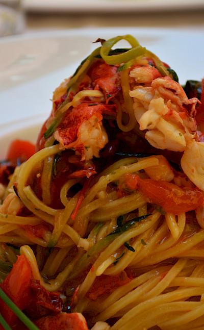 Seafood pasta in Parma, Emilia-Romagna, Italy. Flickr:Pug Girl