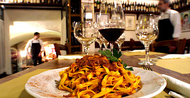 Tagliatelle al Ragu with your wine tonight? Emilia-Romagna, Italy.