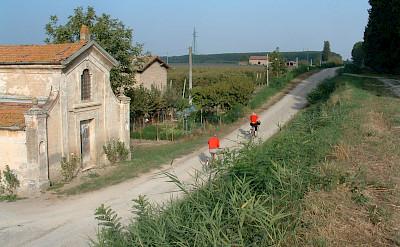 Biking through Ravenna, Emilia-Romagna, Italy.
