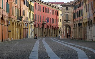 Biking the streets in Emilia-Romagna, Italy.