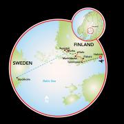 Helsinque a Estocolmo Mapa